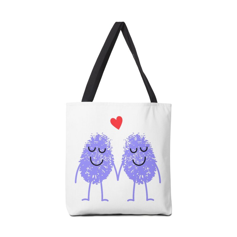 Fingerprint friends Accessories Bag by Illustrations by Phil