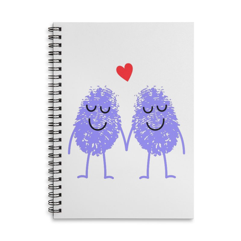 Fingerprint friends Accessories Notebook by Illustrations by Phil