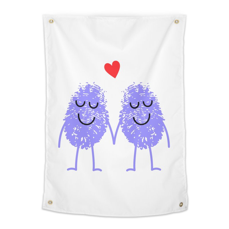 Fingerprint friends Home Tapestry by Illustrations by Phil