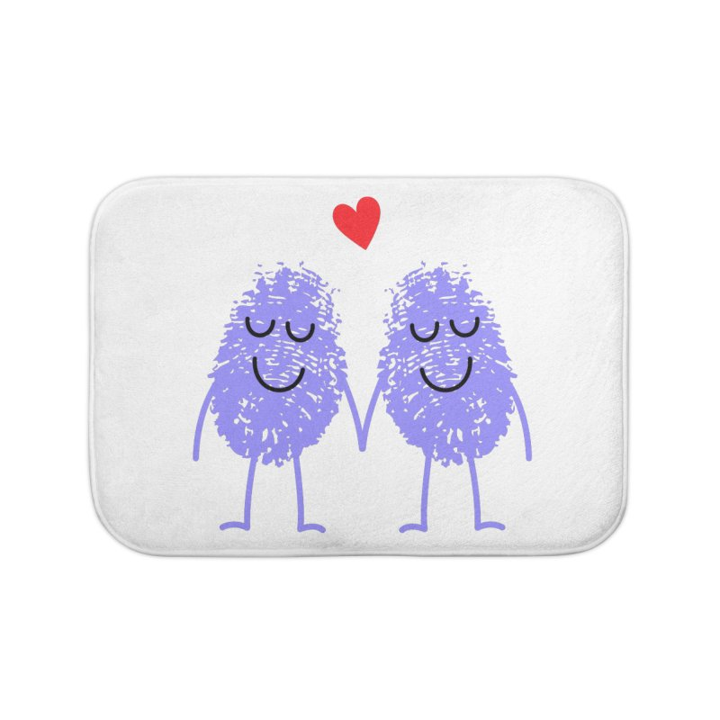 Fingerprint friends Home Bath Mat by Illustrations by Phil