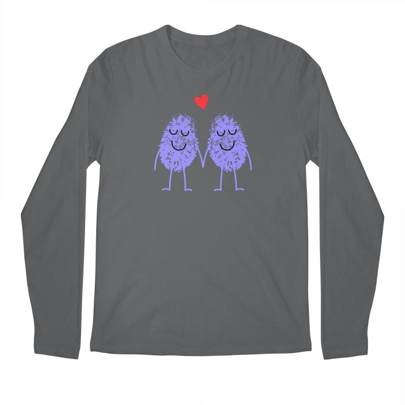 Fingerprint friends Men's Longsleeve T-Shirt by Illustrations by Phil