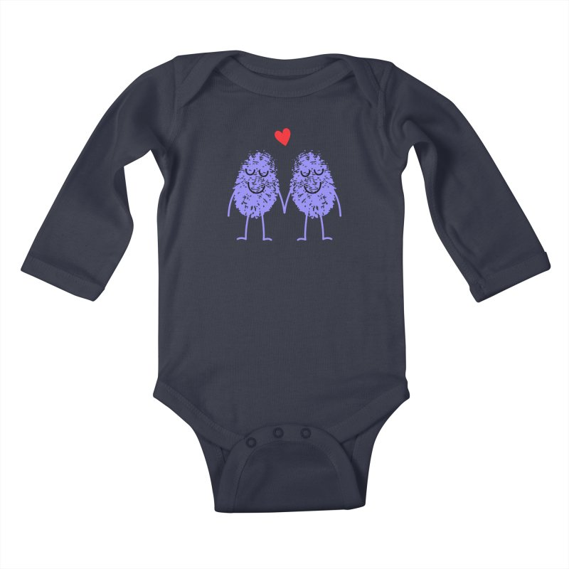 Fingerprint friends Kids Baby Longsleeve Bodysuit by Illustrations by Phil