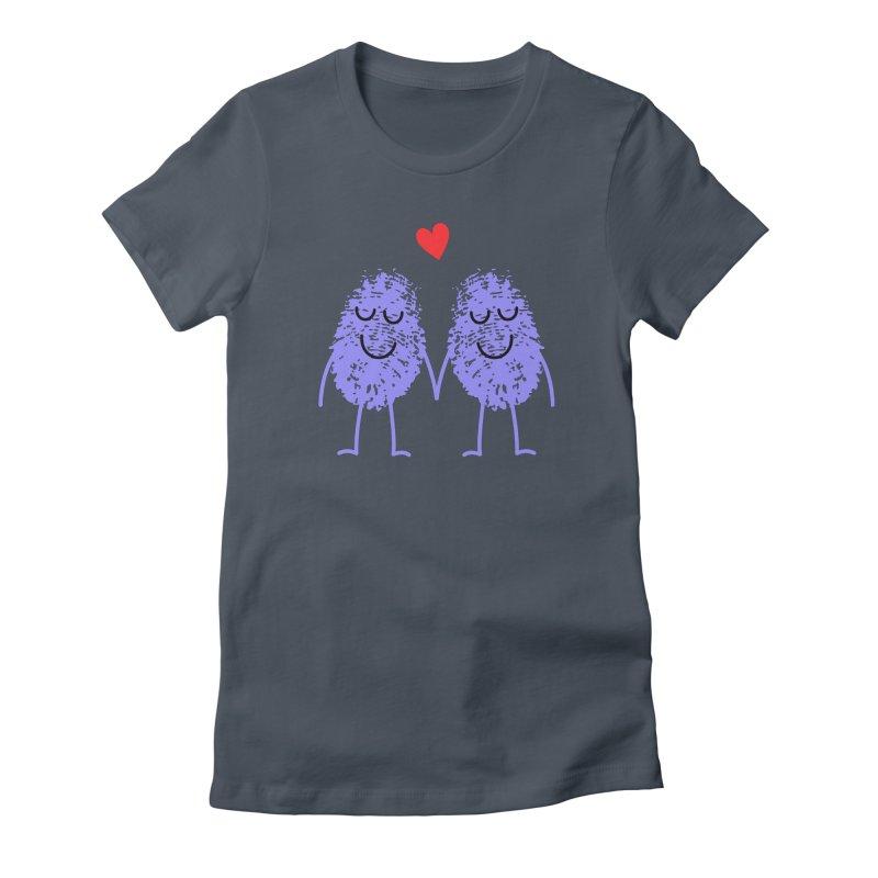 Fingerprint friends Women's T-Shirt by Illustrations by Phil