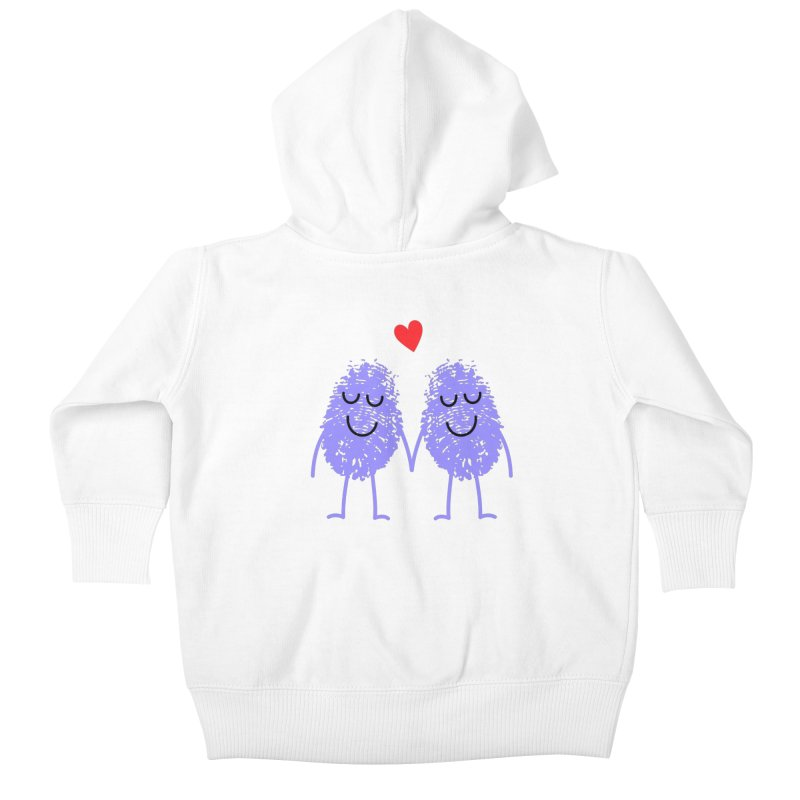 Fingerprint friends Kids Baby Zip-Up Hoody by Illustrations by Phil