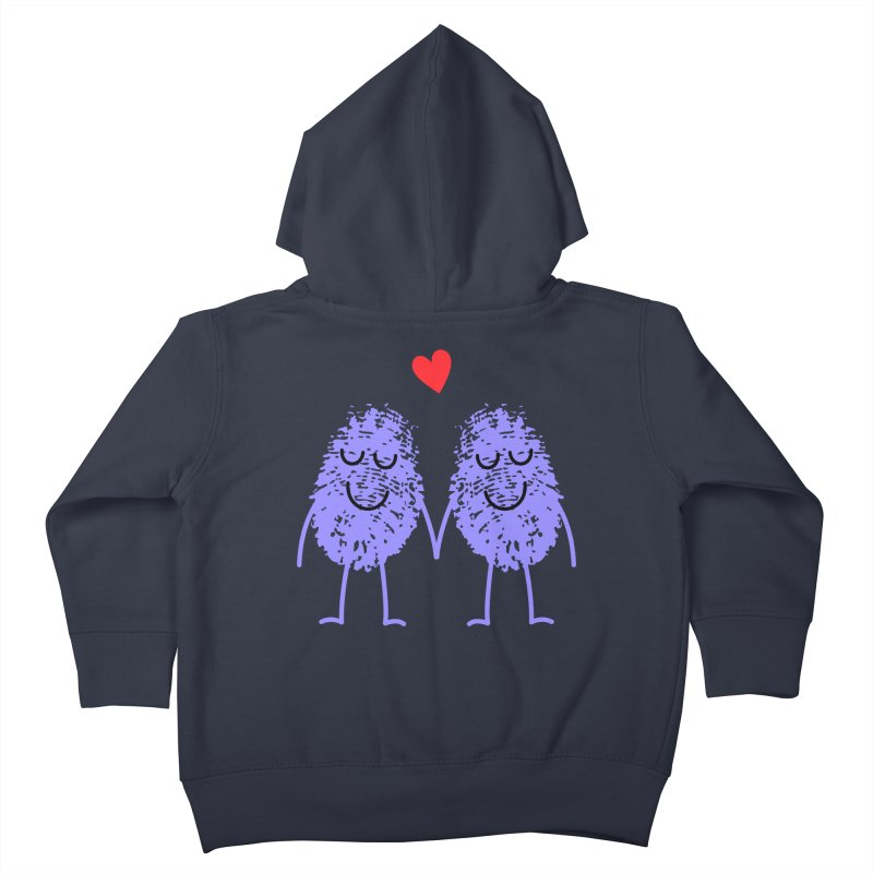 Fingerprint friends Kids Toddler Zip-Up Hoody by Illustrations by Phil