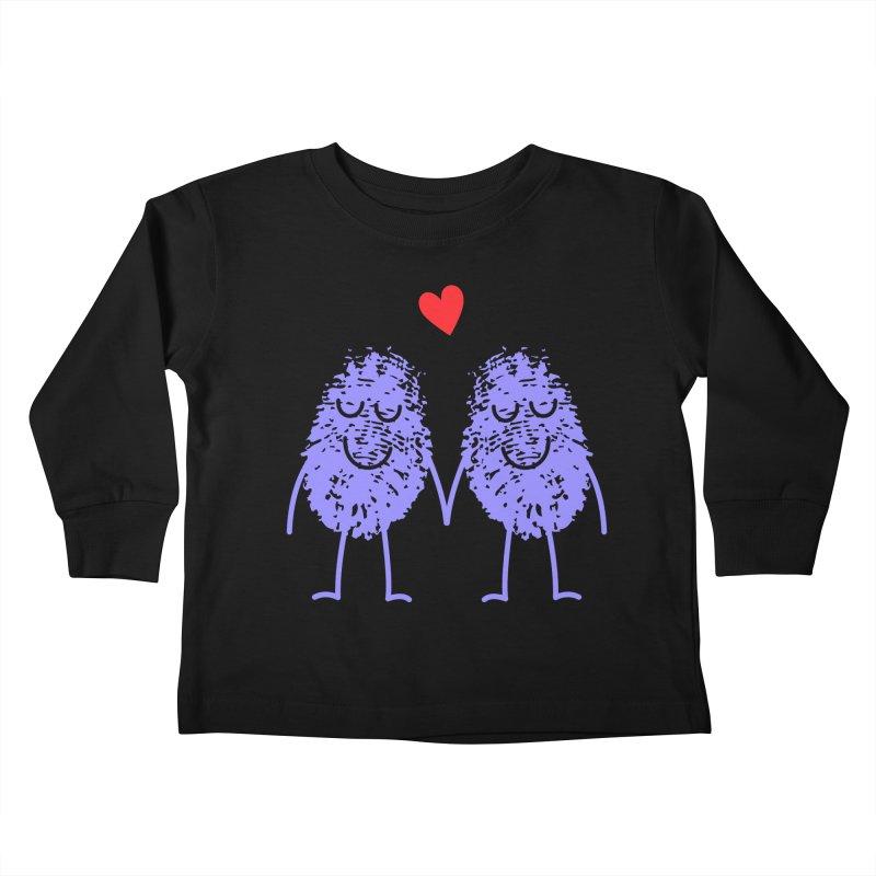 Fingerprint friends Kids Toddler Longsleeve T-Shirt by Illustrations by Phil