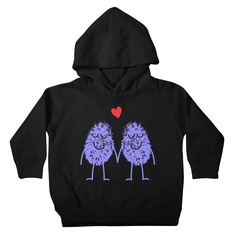 Fingerprint friends Kids Toddler Pullover Hoody by Illustrations by Phil
