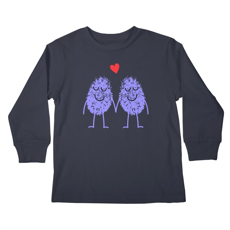 Fingerprint friends Kids Longsleeve T-Shirt by Illustrations by Phil