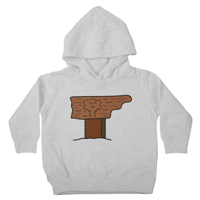 This way to the trees! Kids Toddler Pullover Hoody by Illustrations by Phil