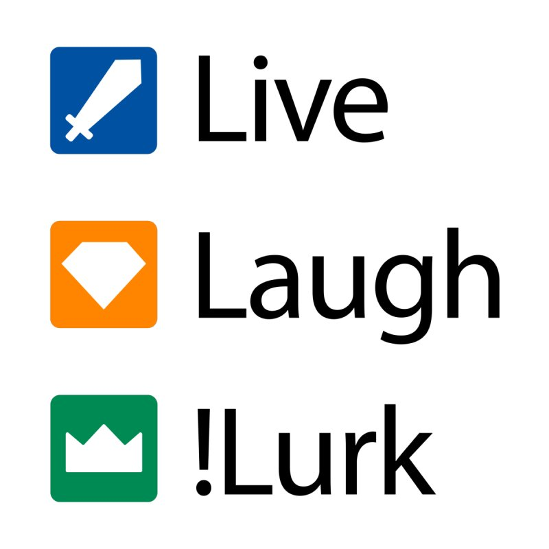 Live Laugh !Lurk Accessories Bag by Illustrations by Phil