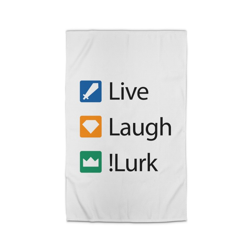 Live Laugh !Lurk Home Rug by Illustrations by Phil