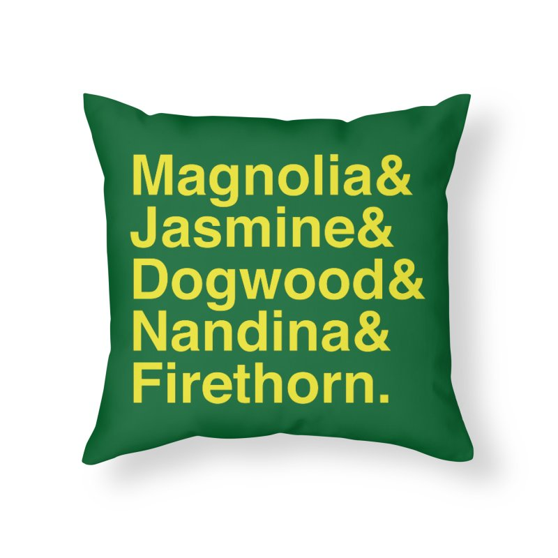 More Masters Holes / Trees Home Throw Pillow by Illustrations by Phil