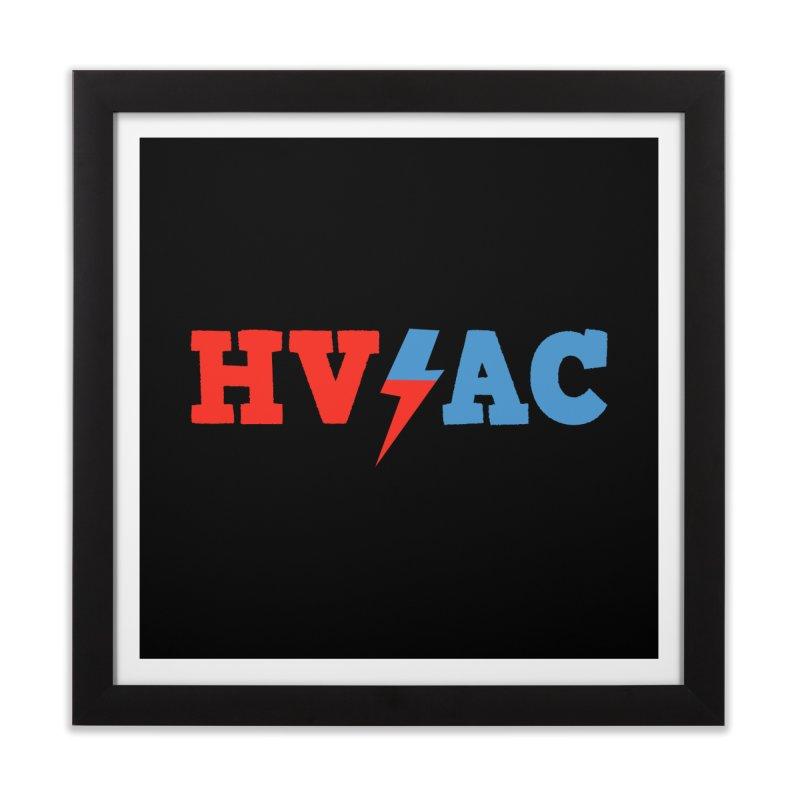 HVAC Home Framed Fine Art Print by Illustrations by Phil