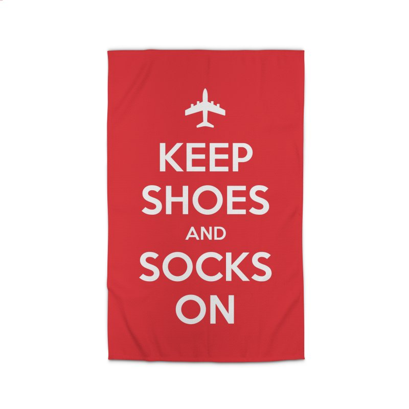 KEEP SHOES AND SOCKS ON Home Rug by Illustrations by Phil