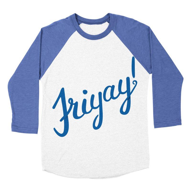 Friyay! Women's Baseball Triblend Longsleeve T-Shirt by Illustrations by Phil