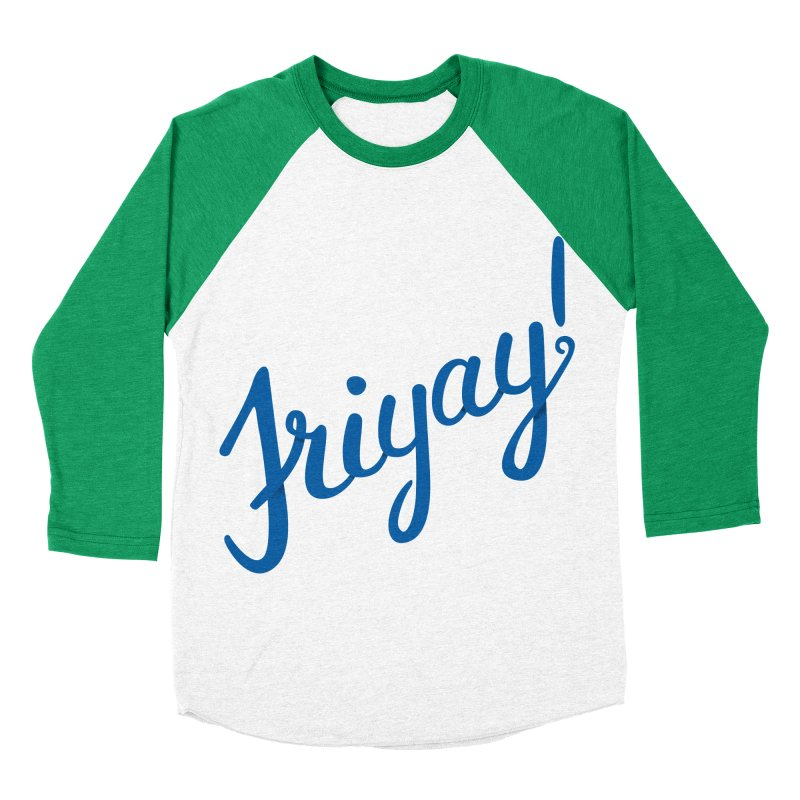 Friyay! Women's Baseball Triblend Longsleeve T-Shirt by Illustrations by Phil