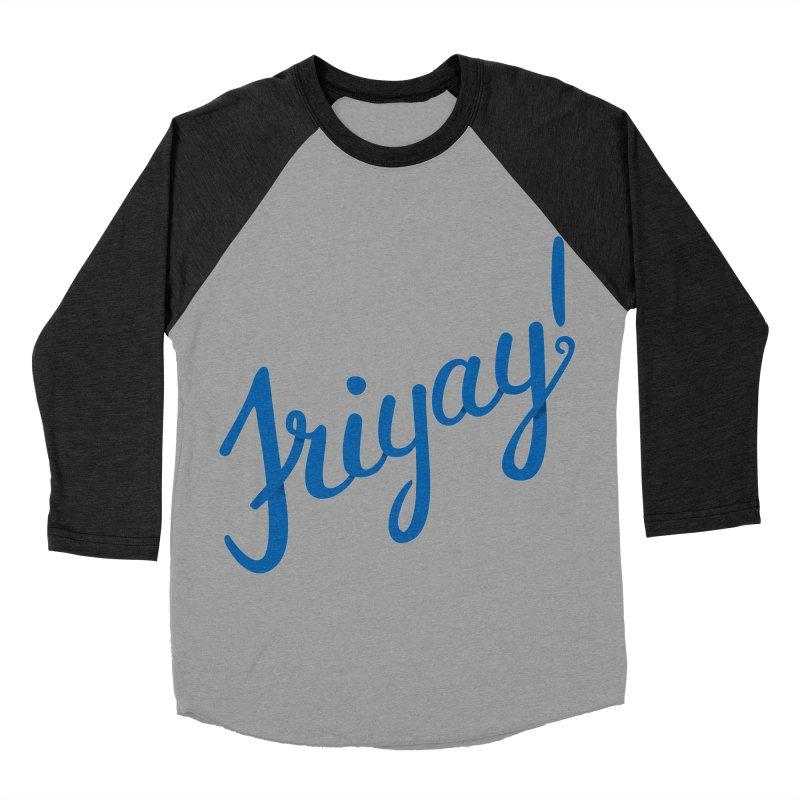 Friyay! Men's Baseball Triblend T-Shirt by Phillustrations's Artist Shop