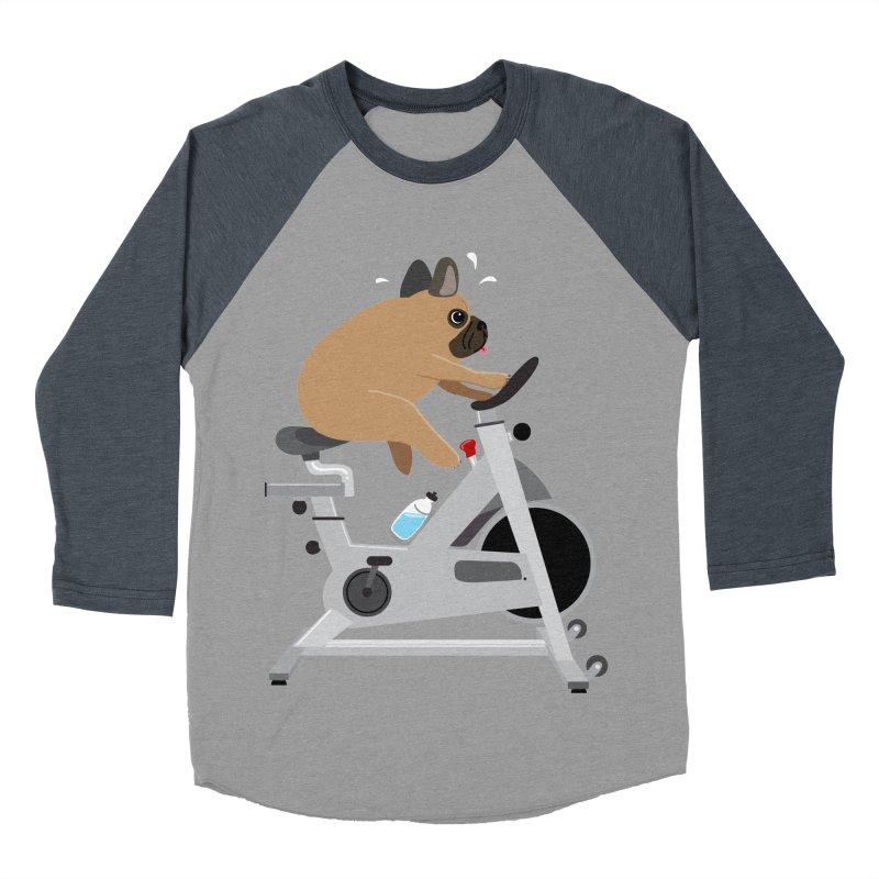 Dog Tired Men's Baseball Triblend T-Shirt by Phillustrations's Artist Shop