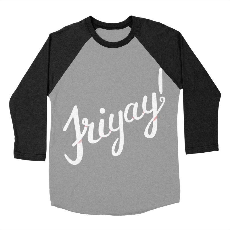 Friyay White Women's Baseball Triblend Longsleeve T-Shirt by Illustrations by Phil