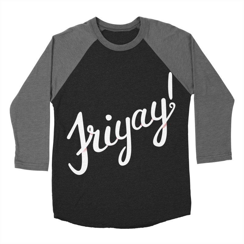 Friyay White Men's Baseball Triblend T-Shirt by Phillustrations's Artist Shop