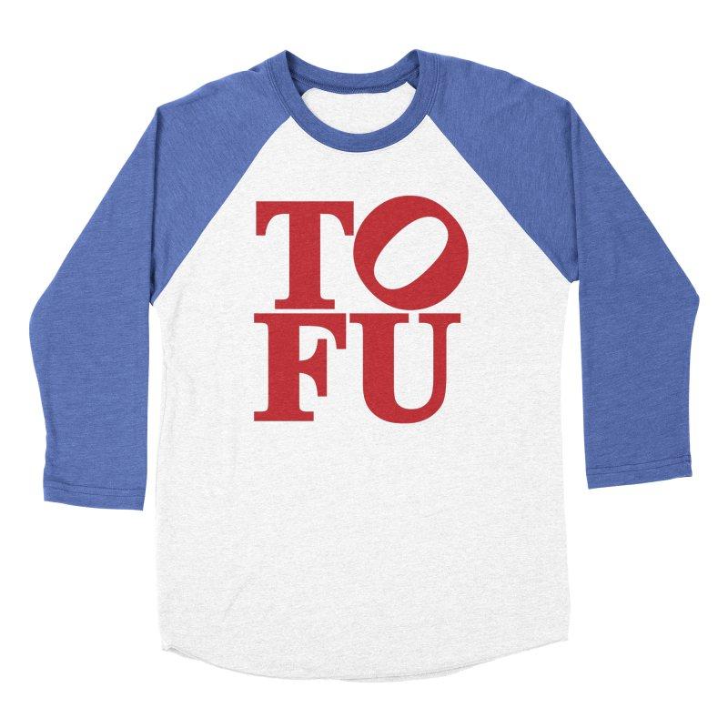 TOFU Love Men's Baseball Triblend Longsleeve T-Shirt by Illustrations by Phil
