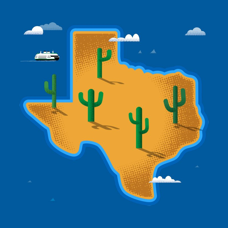 Texas Island by Phillustrations's Artist Shop