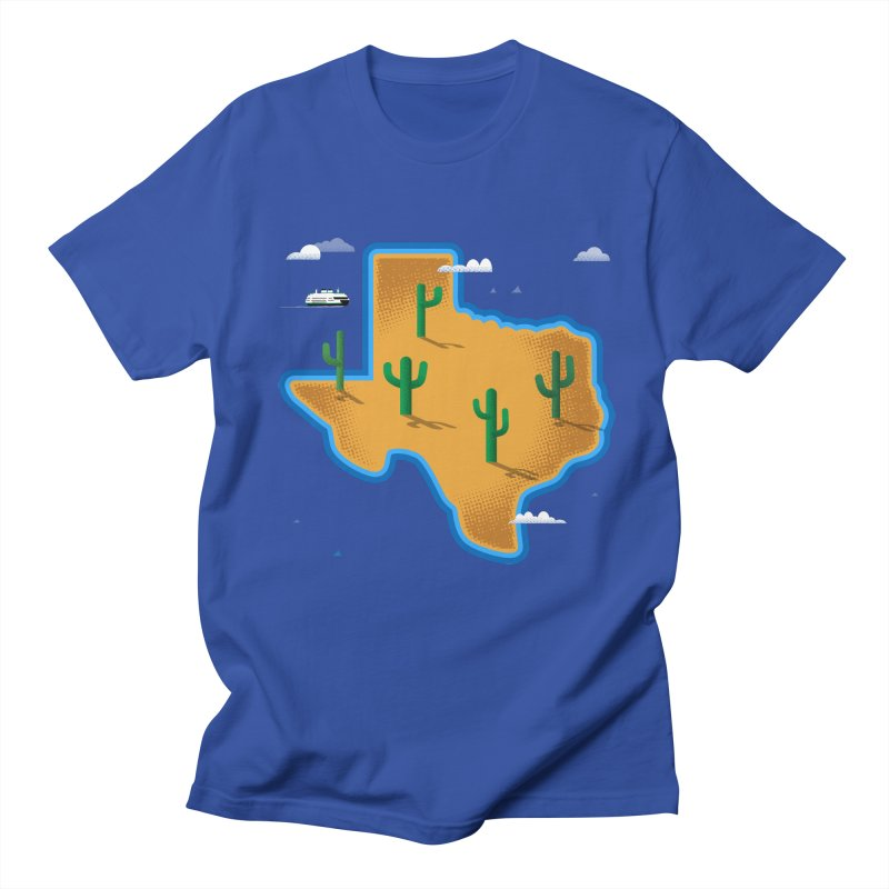 Texas Island Men's T-Shirt by Illustrations by Phil