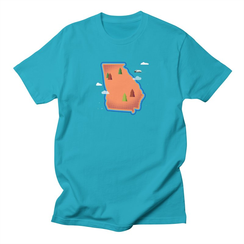 Georgia Island Men's T-Shirt by Illustrations by Phil