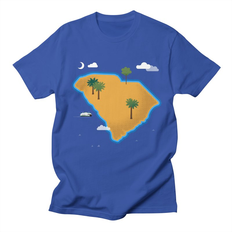 South Carolina Island Men's T-Shirt by Illustrations by Phil