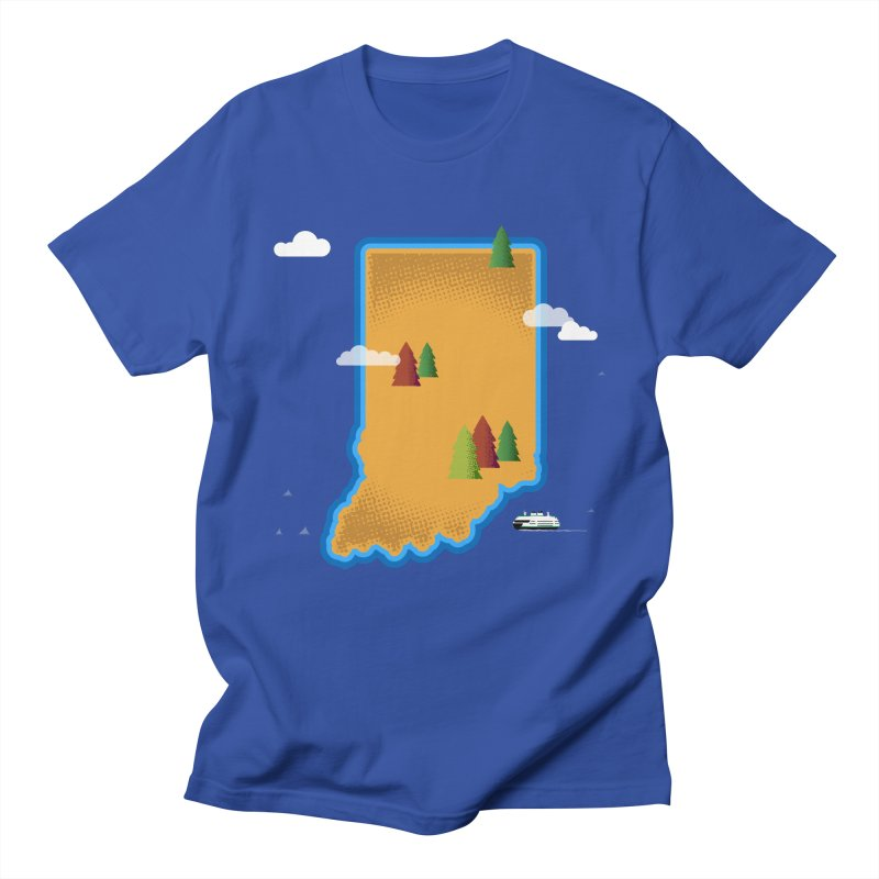 Indiana Island Men's T-Shirt by Illustrations by Phil