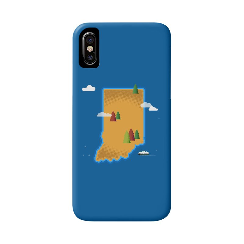 Indiana Island Accessories Phone Case by Phillustrations's Artist Shop
