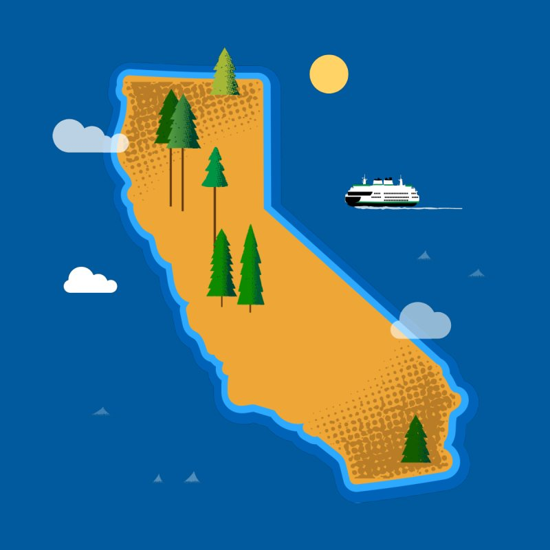 California Island by Phillustrations's Artist Shop