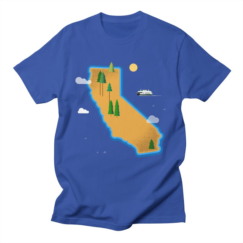 California Island Men's T-Shirt by Illustrations by Phil