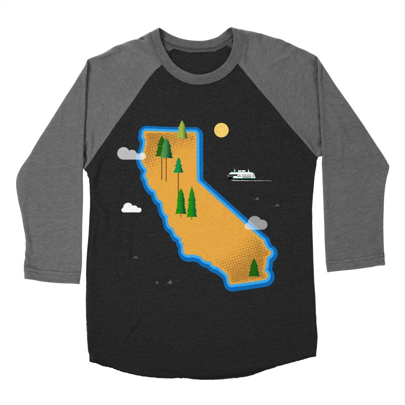 California Island Women's Baseball Triblend Longsleeve T-Shirt by Illustrations by Phil