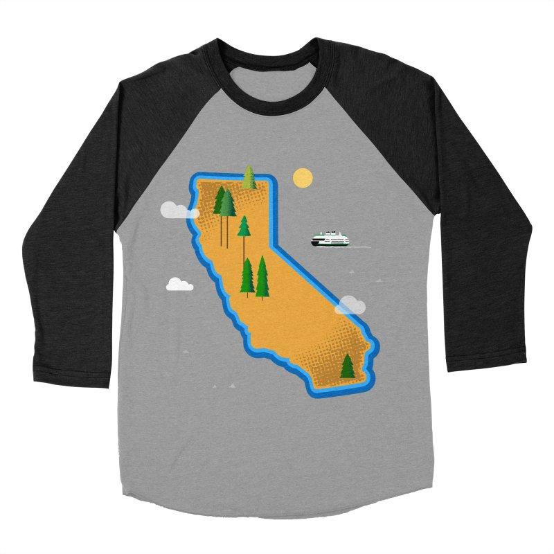 California Island Men's Baseball Triblend Longsleeve T-Shirt by Illustrations by Phil
