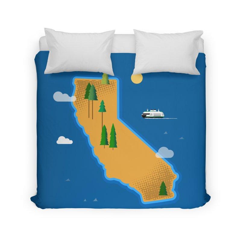 California Island Home Duvet by Phillustrations's Artist Shop
