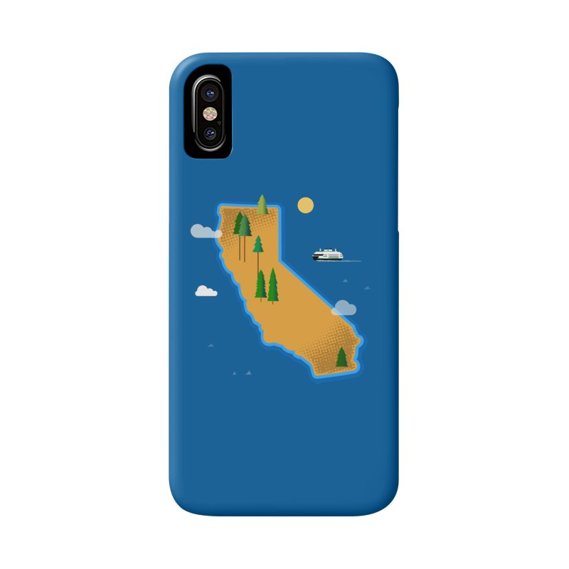 California Island Accessories Phone Case by Phillustrations's Artist Shop