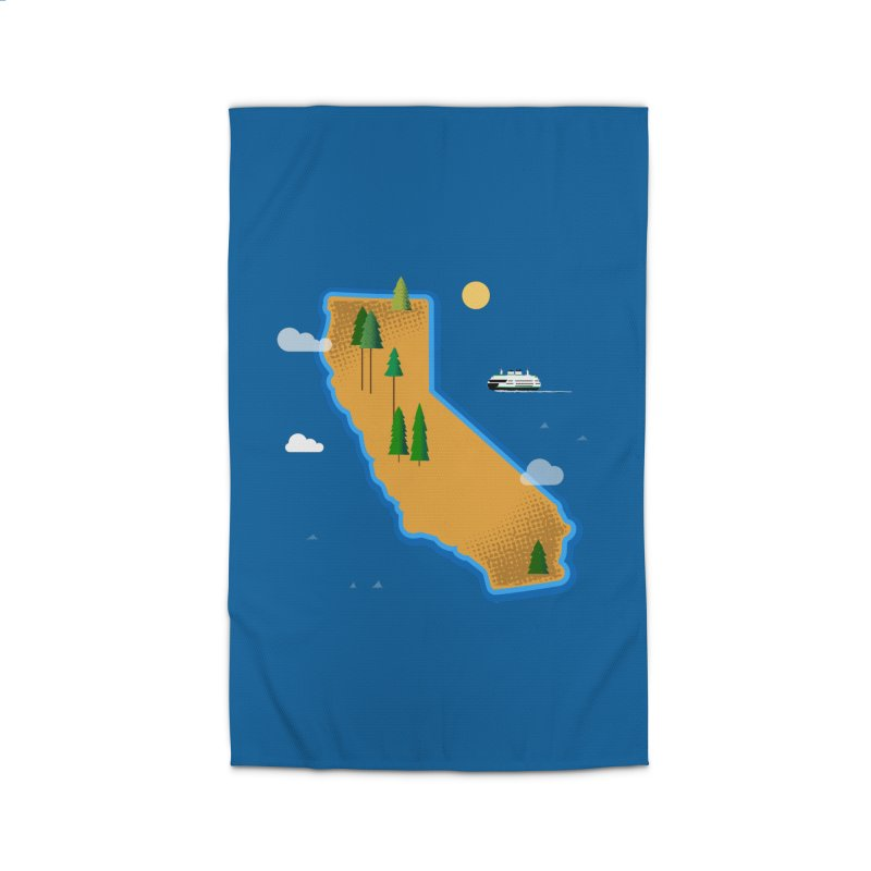 California Island Home Rug by Phillustrations's Artist Shop
