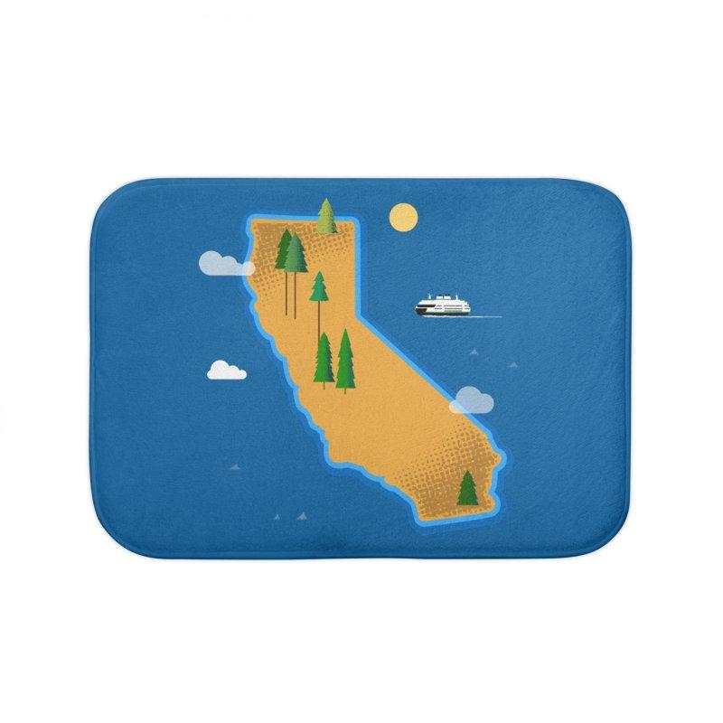 California Island Home Bath Mat by Phillustrations's Artist Shop