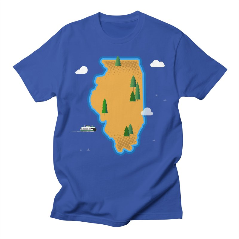 Illinois Island Men's T-Shirt by Illustrations by Phil