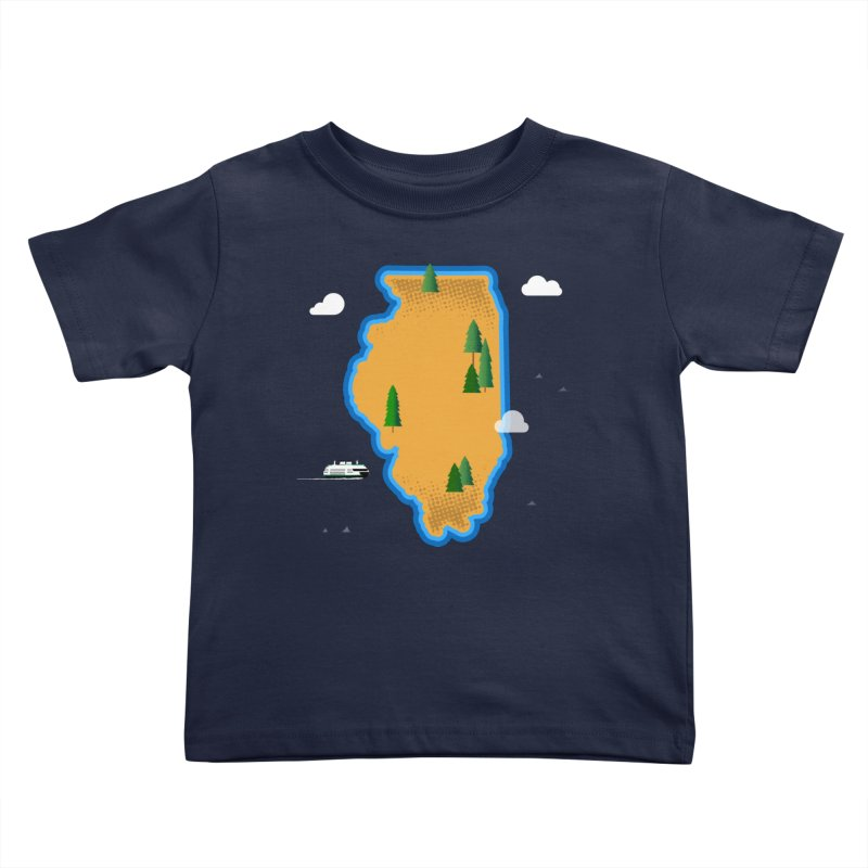 Illinois Island Kids Toddler T-Shirt by Phillustrations's Artist Shop