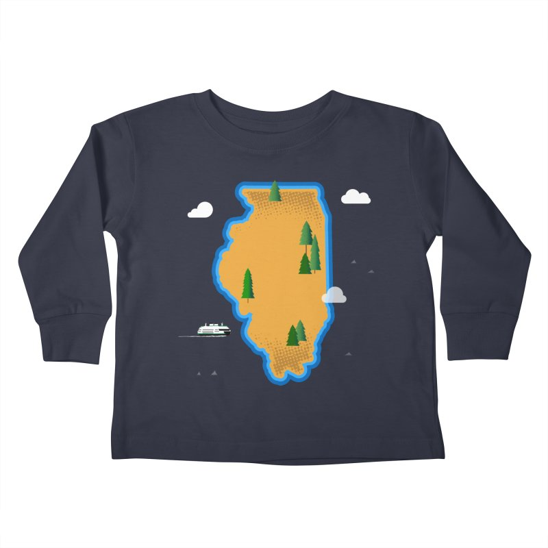 Illinois Island Kids Toddler Longsleeve T-Shirt by Phillustrations's Artist Shop