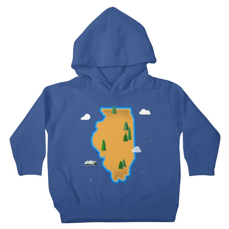 Illinois Island Kids Toddler Pullover Hoody by Phillustrations's Artist Shop