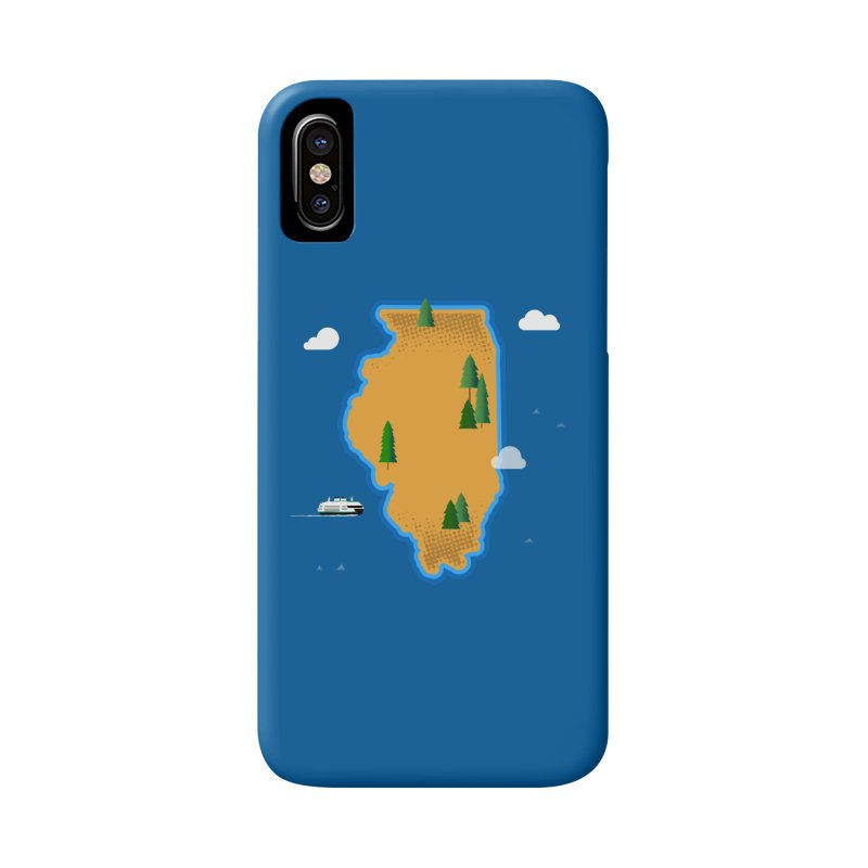 Illinois Island Accessories Phone Case by Phillustrations's Artist Shop