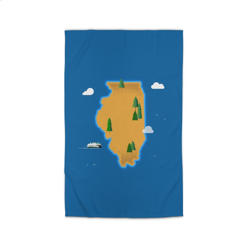 Illinois Island Home Rug by Phillustrations's Artist Shop