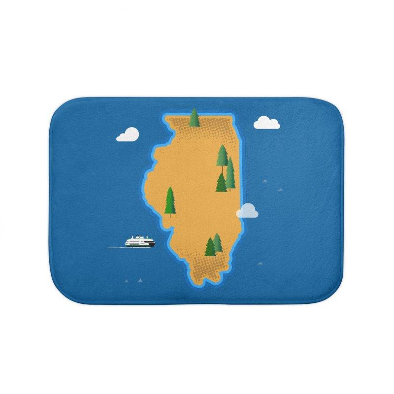 Illinois Island Home Bath Mat by Phillustrations's Artist Shop