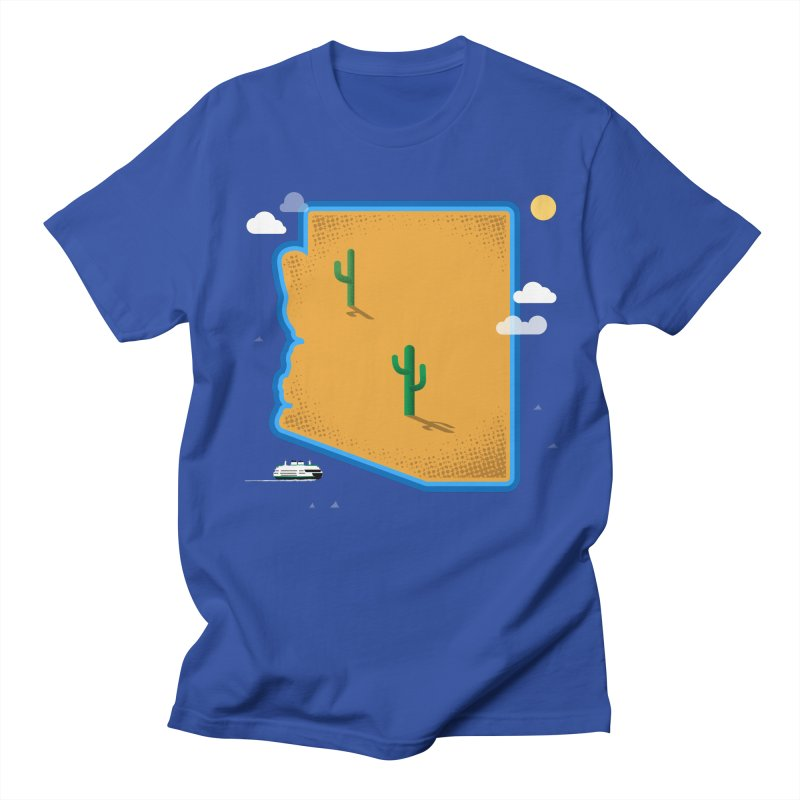 Arizona Island Men's T-Shirt by Illustrations by Phil