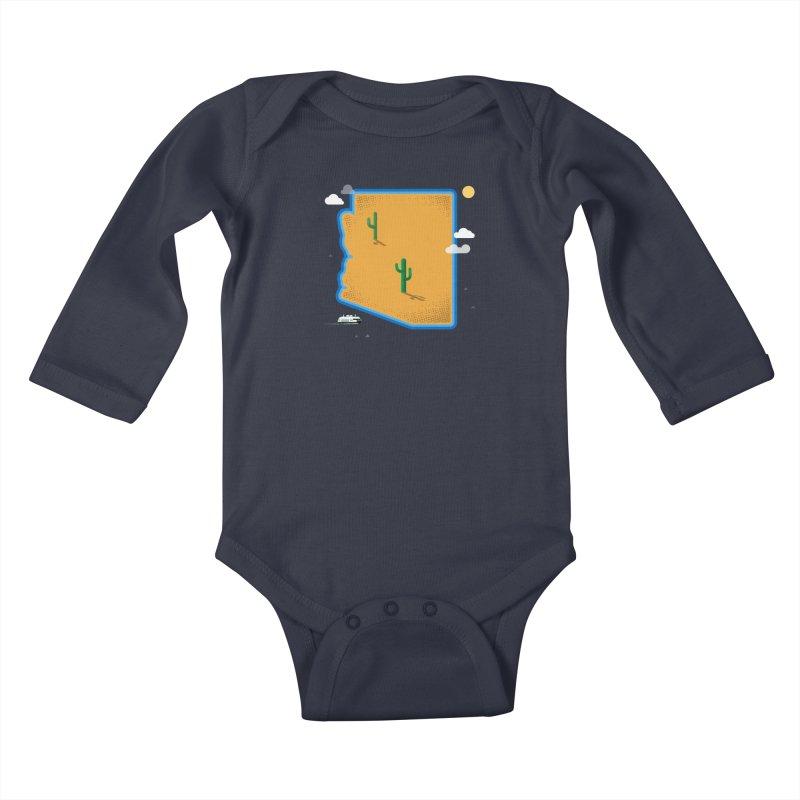Arizona Island Kids Baby Longsleeve Bodysuit by Phillustrations's Artist Shop
