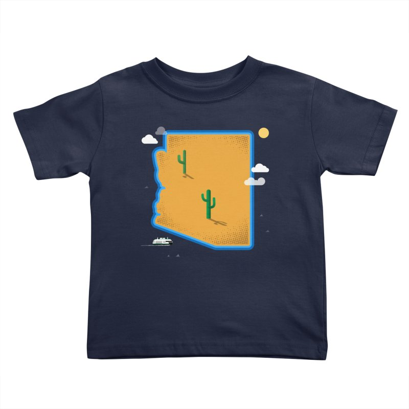 Arizona Island Kids Toddler T-Shirt by Phillustrations's Artist Shop