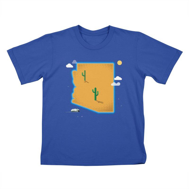 Arizona Island Kids T-Shirt by Phillustrations's Artist Shop